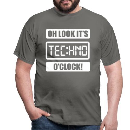 Rave Tshirt Technoclock - Männer T-Shirt