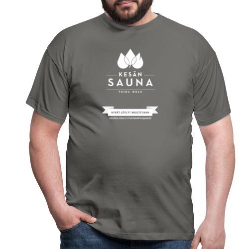 Kesän sauna - musta - Miesten t-paita