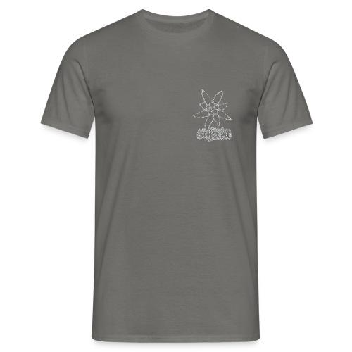 sojo.at Logo (Edelweiß und Sagzahn mit Schriftzug) - Männer T-Shirt