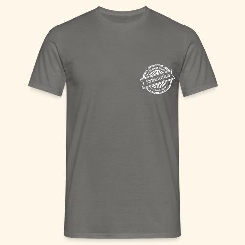 taalvoutjes stempel wit 1 - Mannen T-shirt