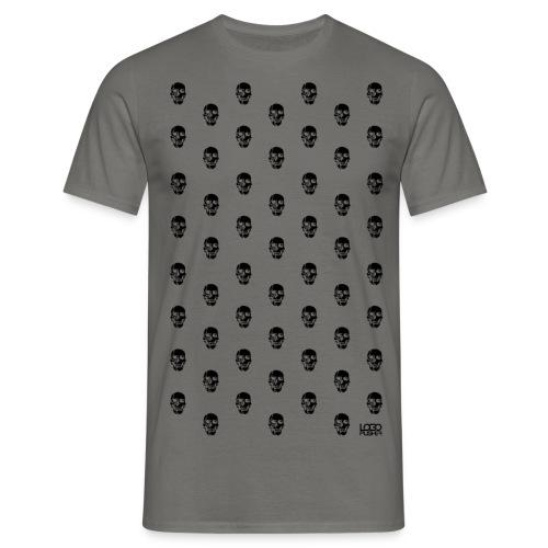 skulls black png - Herre-T-shirt