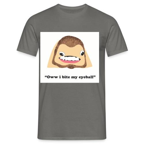 Oww i bite my eyeball - Men's T-Shirt