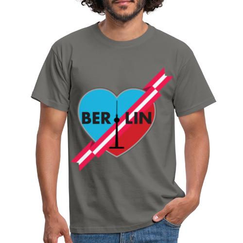 Berlin Love Heart WIth Ribbon 2 - Men's T-Shirt
