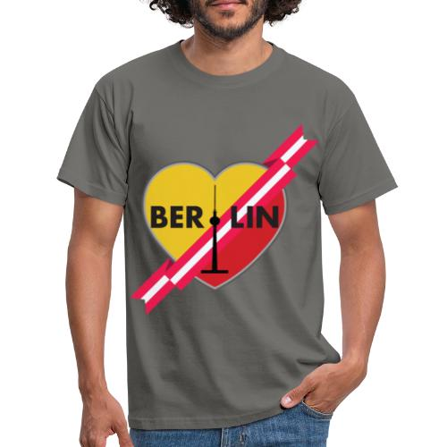 Berlin Love Heart With Ribbon 1 - Men's T-Shirt