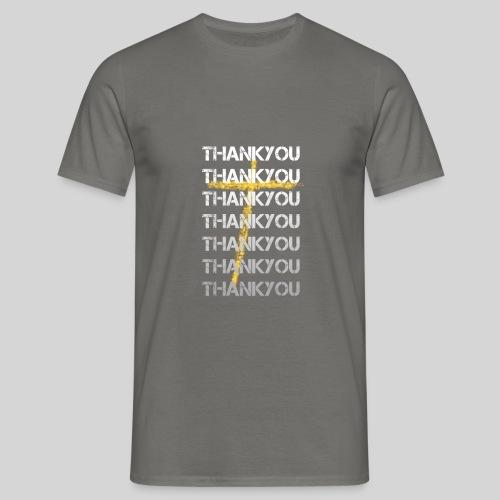 DANKE Jesus, das Geschenk für Christen THANKYOU - Männer T-Shirt