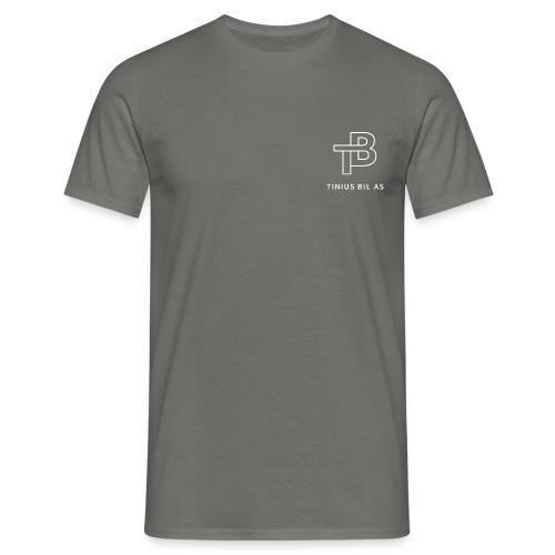tinius-bil-logo_white - T-skjorte for menn