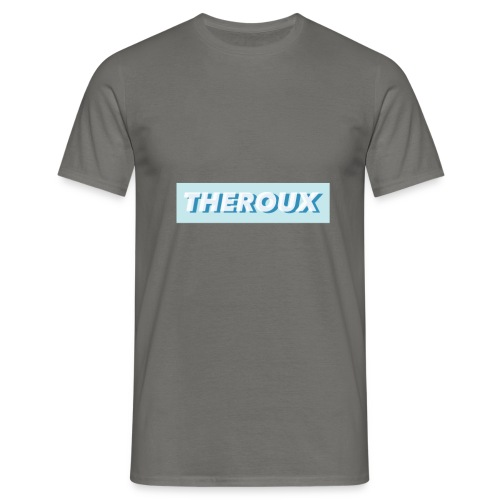 Theroux White Blue - Men's T-Shirt