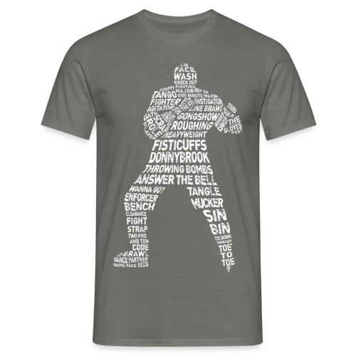 Hockey Enforcer Lingo (white print) - Men's T-Shirt