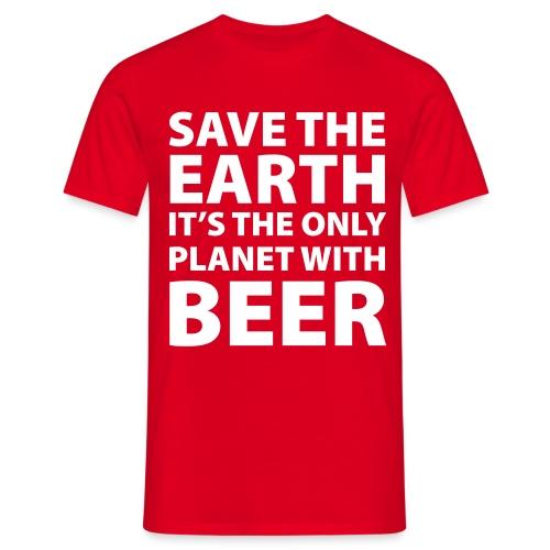 bear - sauve la terre - T-shirt Homme