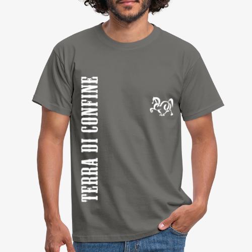 logo TDC verticale bianco - Maglietta da uomo
