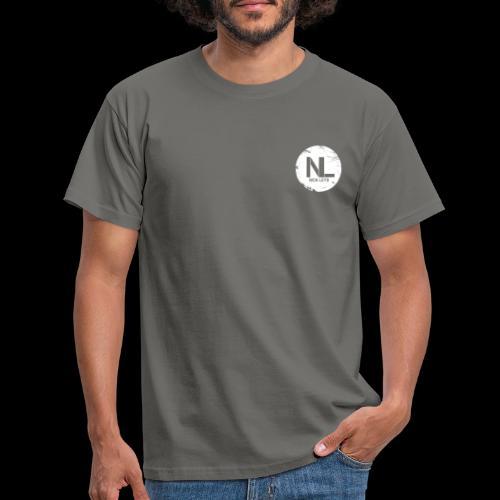 White Nick Leys Logo Rund - Männer T-Shirt