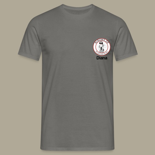 Vorderseite Diana - Männer T-Shirt