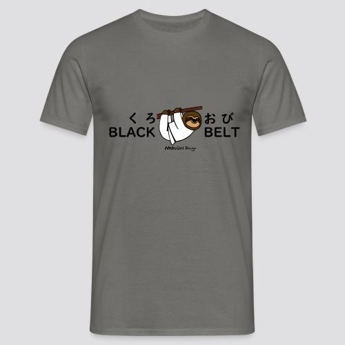 Zwarte gordel luiaard - Mannen T-shirt
