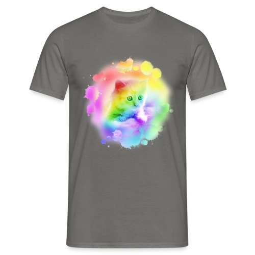 Rainbow Kitty - Men's T-Shirt