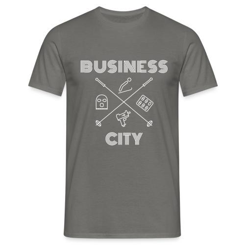 Business City - valkoinen painatus - Miesten t-paita
