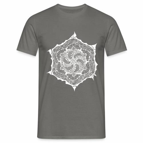 Blumen Doodle weiss - Männer T-Shirt