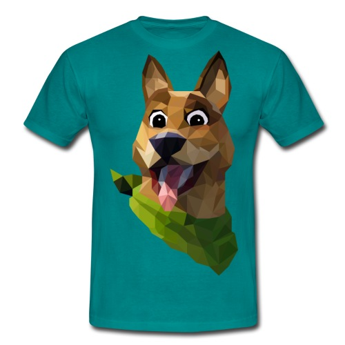 LOW POLY DOGO - T-shirt Homme