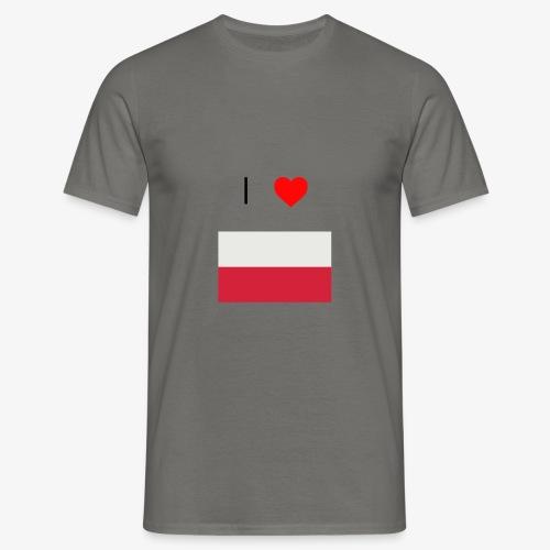 I LOVE POLSKA - Koszulka męska