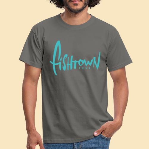 Fishtown 2850 handdrawn brightblue - Männer T-Shirt