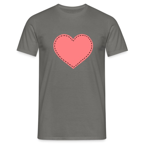 Pink heart - T-skjorte for menn