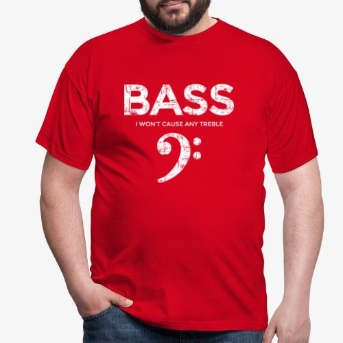 BASS I wont cause any treble (Vintage/Weiß) - Männer T-Shirt