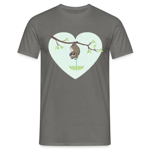 Faultier im Regen - Männer T-Shirt