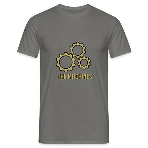The Machines Logo Gold - T-skjorte for menn