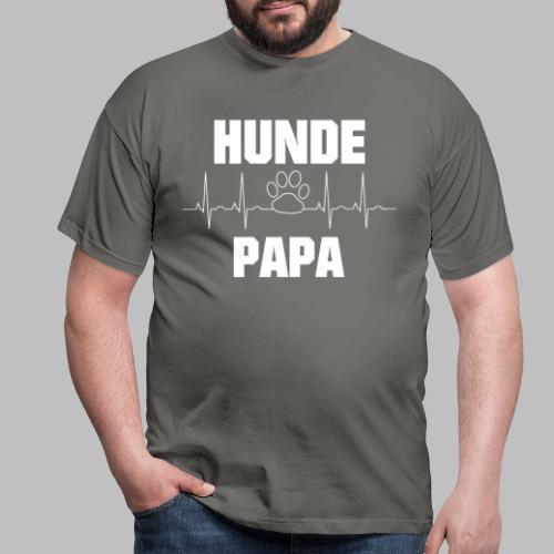 Hundepapa EKG Herzlinie Pfote - Männer T-Shirt