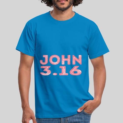 Johannes 3 Vers 16 Bibelversdesign - Männer T-Shirt