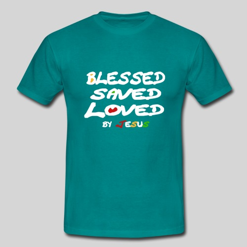 Blessed Saved Loved by Jesus - Männer T-Shirt