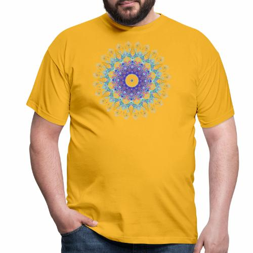 Lilla mandala pastel - Herre-T-shirt