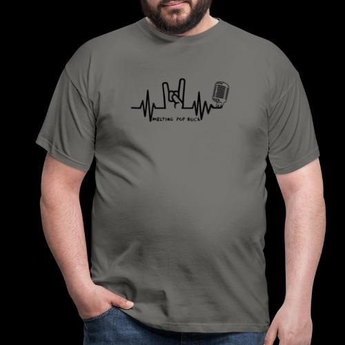 Logo noir Melting Pop Rock - T-shirt Homme