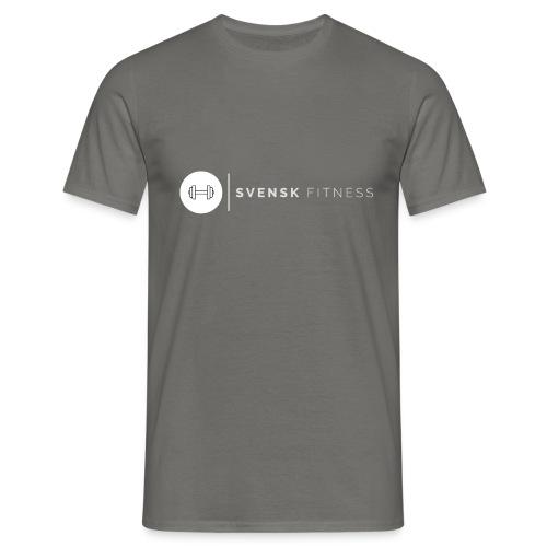 Linne med vit vertikal logo - T-shirt herr