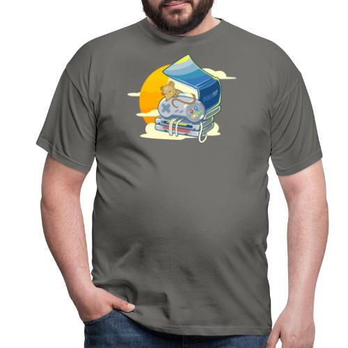 Retro-Leseratte - Männer T-Shirt