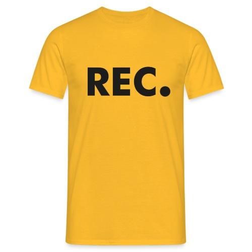 Rec zwart - Mannen T-shirt