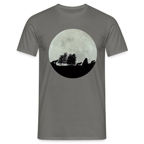 moon wolf - T-shirt Homme