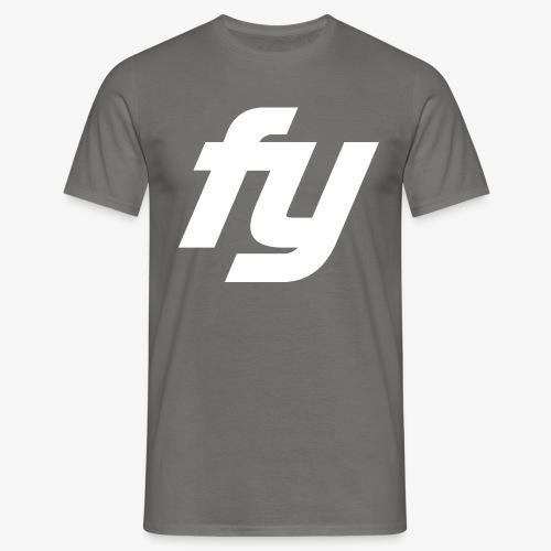 Logo Trendy Weiss - Männer T-Shirt