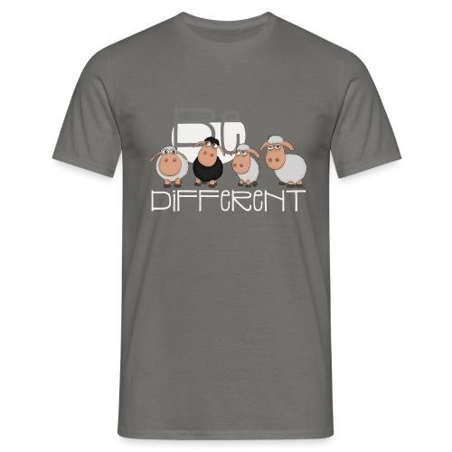 Coole Be different Schafe Gang - Gute Laune Schaf - Männer T-Shirt