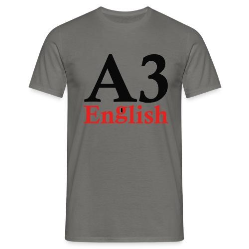 A3Small logo 1 - Men's T-Shirt