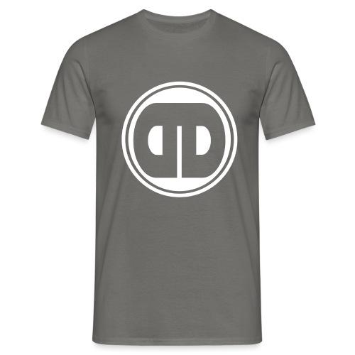 DDz Badge Logo V2 White - Men's T-Shirt