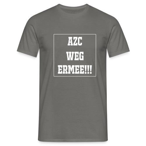 Protest t-shirt tegen de vluchtelingen. - Mannen T-shirt