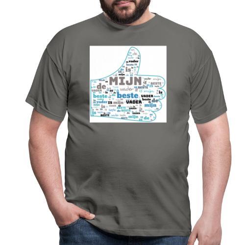 Mijn vader is de beste - Mannen T-shirt