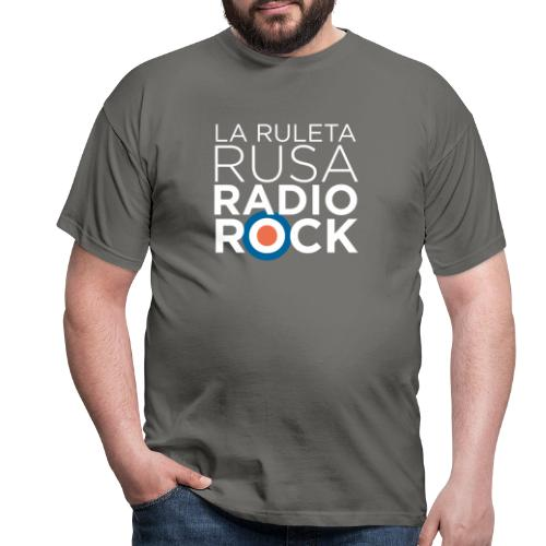 La Ruleta Rusa Radio Rock. Retrato blanco - Camiseta hombre