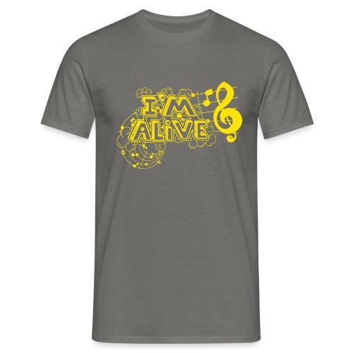 i m alive geel png - Mannen T-shirt