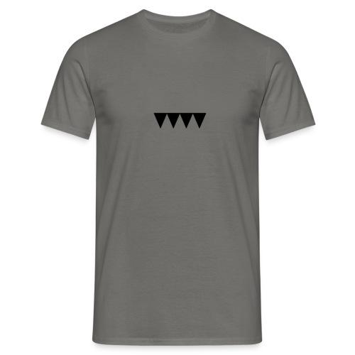 V i e r s c h w a r z e D r e i e c k e - Männer T-Shirt