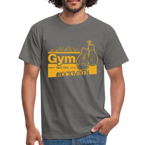 Gym Druckfarbe Orange - Männer T-Shirt