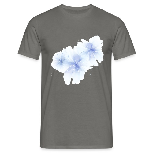 blue flowers - Koszulka męska