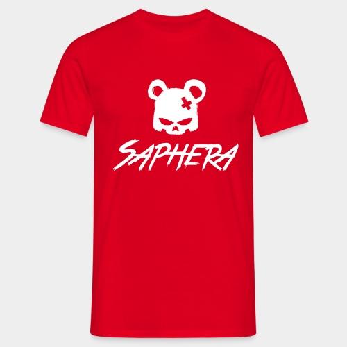 SAPHERA LOGO WHITE TRANS - Mannen T-shirt