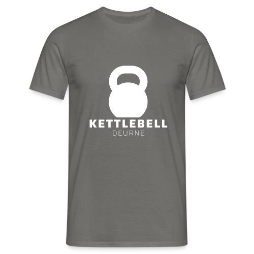Kettlebell Deurne Wit Logo - Mannen T-shirt