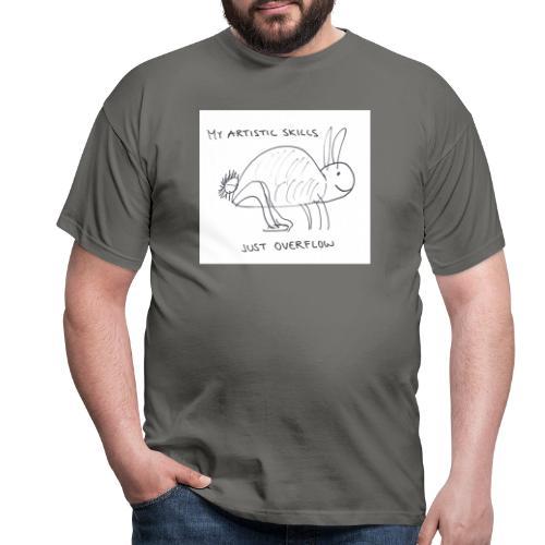 Taiteellinen pupu - Miesten t-paita